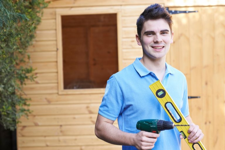 man with power tool